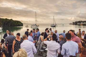 Wedding sunset cruise