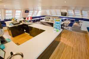 Main Deck, Bar and Buffet servery