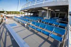 Outside, Lower Sun Deck Seating